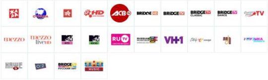 Музыкальные каналы Триколор ТВ