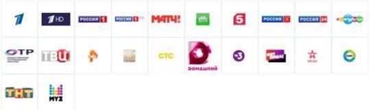 Триколор ТВ общероссийские каналы