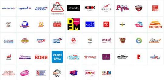 Радио Триколор каналы