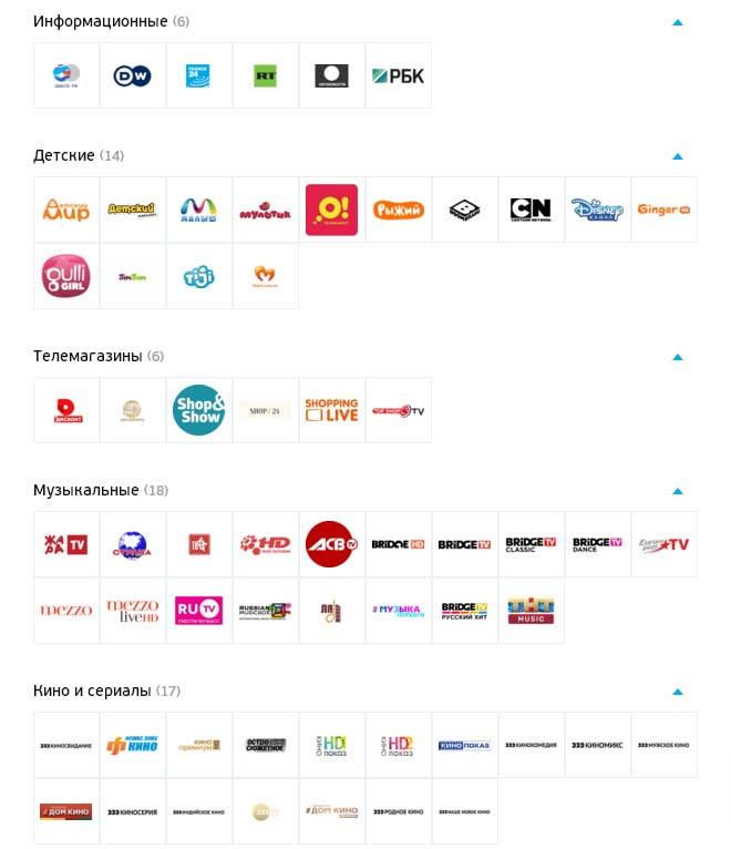 Триколор-Онлайн пакет каналов